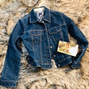 Gap 90s blue jean crop jacket coat
